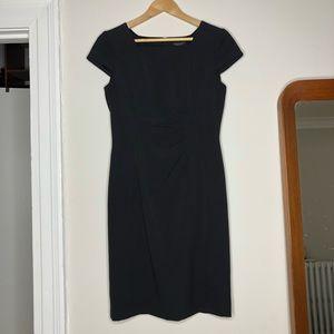 TAHARI Arthur S. Levine Black Cap Sleeve Dress